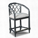 Hooker Furniture Cosmopolitan Geometric 24 Transitional Counter Stool in Black