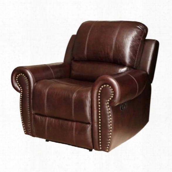 Abbyson Living Hogan Leather Recliner