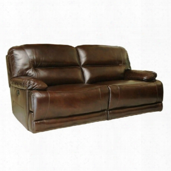 Abbyson Living Rio Leather Reclining Sofa In Brown