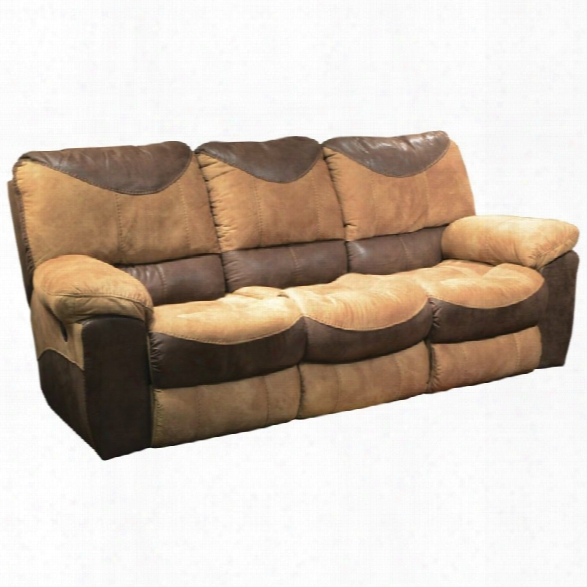 Catnapper Portmna Reclining Sofa In Saddle And Chocolate