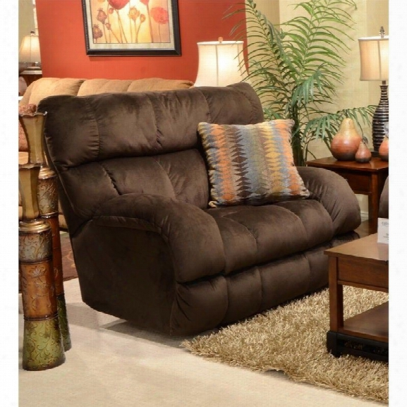 Catnapper Siesta Lay Flat Fabric Recliner In Chocolate