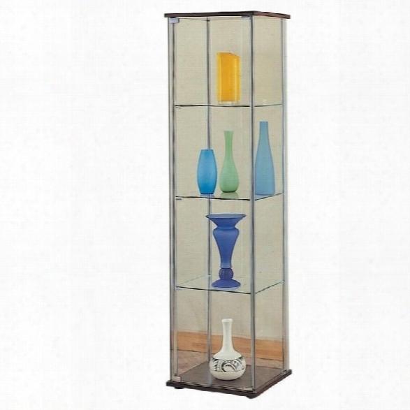 Coaster Glass Curio Cabinet In Cappuccino