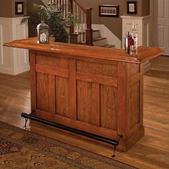 Hillsdale Classic Oak Large Home Bar Unit