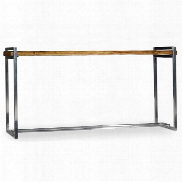 Hooker Furniture Live Edge Console Table In Medium Wood