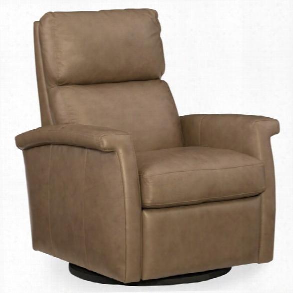 Hooker Furniture Rosalie Leather Swivel Recliner In Brown