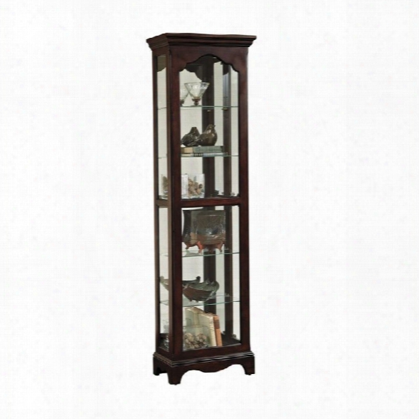 Pulaski Side Entry Curio Cabinet In Wood