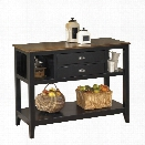 Ashley Owingsville Sideboard in Black and Brown