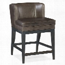 Hooker Furniture Jada Leather Counter Stool in Memento Medal