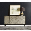 Hooker Furniture Melange Mirrored Angle Console Table in Black