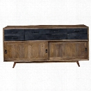 Pulaski Devon 8 Drawer Sideboard in Brown