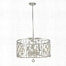 Z-Lite Almet 6 Light Pendant in Brushed Nickel