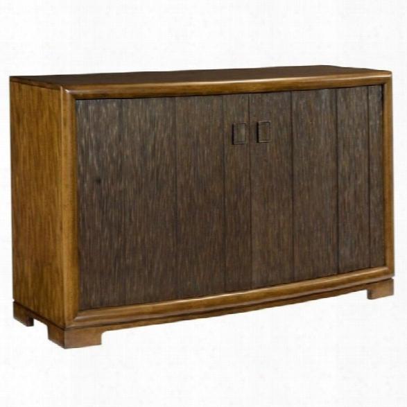 American Drew Grove Point 2 Door Wood Server In Warm Khaki