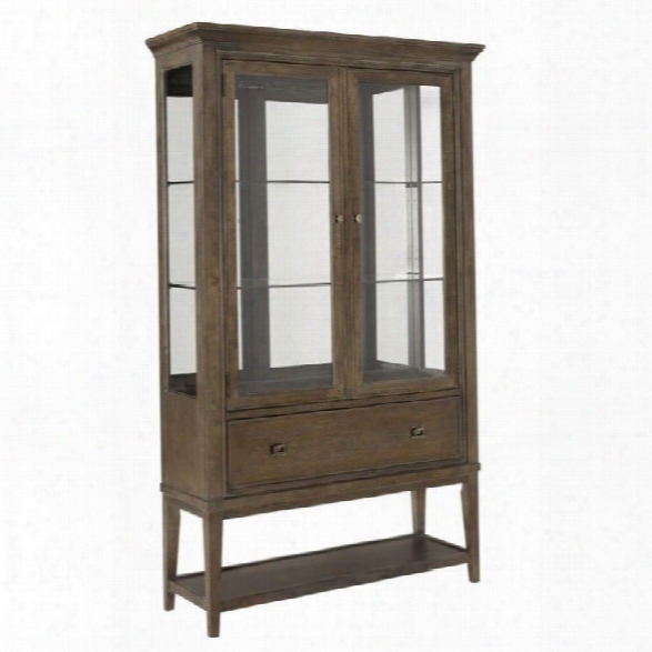 Ameican Drew Park Studio Mirrored Back Curio China Cabinet In Taupe