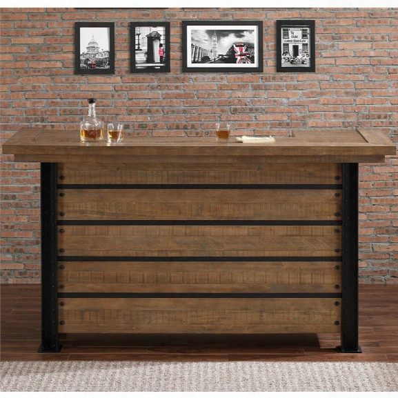 American Heritage Gateway Home Bar In Reclaimed Finish