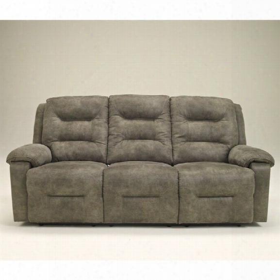 Ashley Furniture Rotation Power Reclining Sofa In Smoke