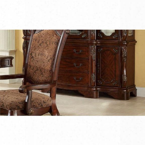 Furniture Of America Fellin Multi-storage Buffet In Antique Cherry