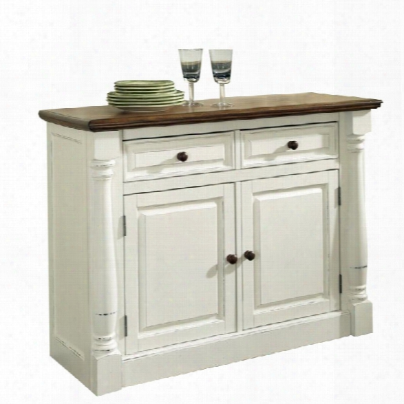 Home Styles Monarch Buffet In White And Oak Finish