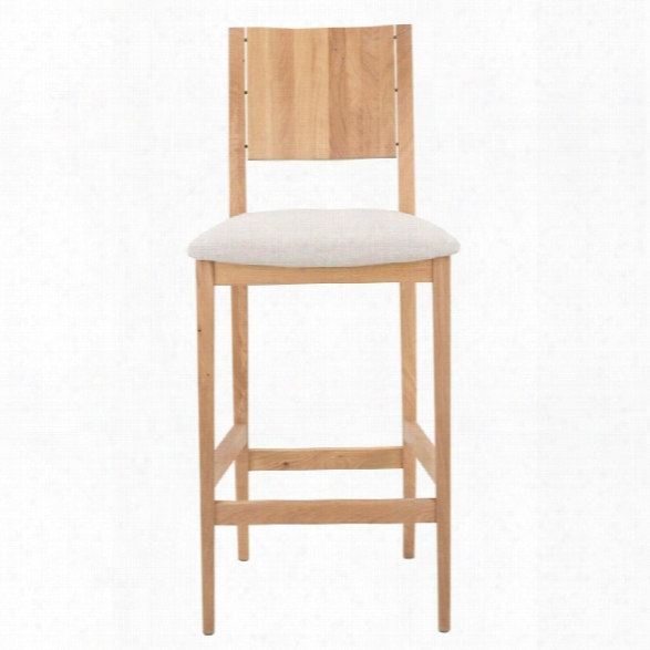 Nuevo Eska 25.75 Counter Stool In Raw Oak