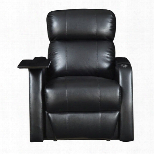 Picket House Furnishings Cecille Movie Theater Power Recliner In Black