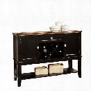 Furniture of America Delila Wine Rack Sideboard in Black and Cherry