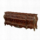 Furniture of America Fruett 9 Drawer Buffet in Cherry