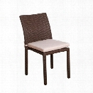 International Home Atlantic 4 Piece Patio Dining Chair in Dark Brown