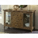 Liberty Furniture Pebble Creek I Server in Weathered Butterscotch