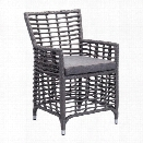 Zuo Sandbanks Patio Dining Chair in Gray (Set of 2)