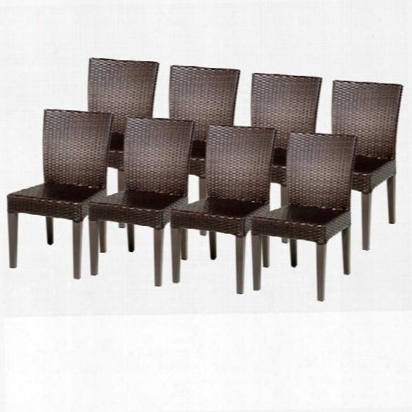 Tkc Napa Wicker Patiio Dining Chairs In Espresso (set Of 8)