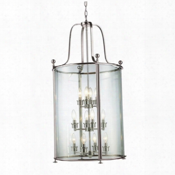Z-lite Wyndham 12 Light Pendant In Brushed Nickel