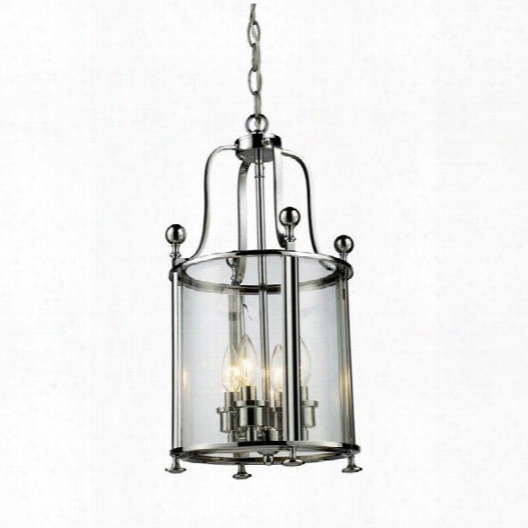 Z-lite Wyndham 4 Light Pendant In Chrome