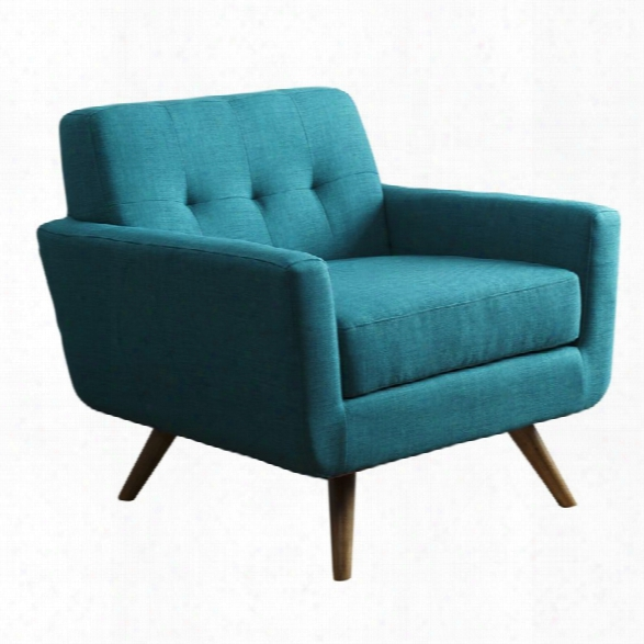 Abbyson Living Paisley Tufted Fabric Arm Chair In Teal Blue