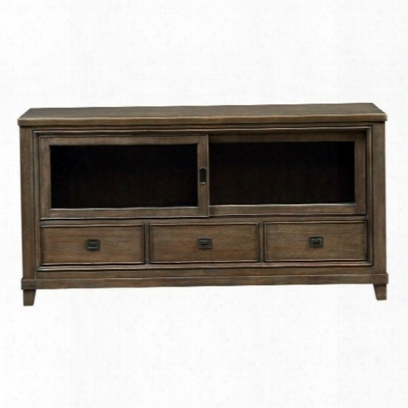 American Drew Park Studio 66 Wood Tv Stand In Taupe