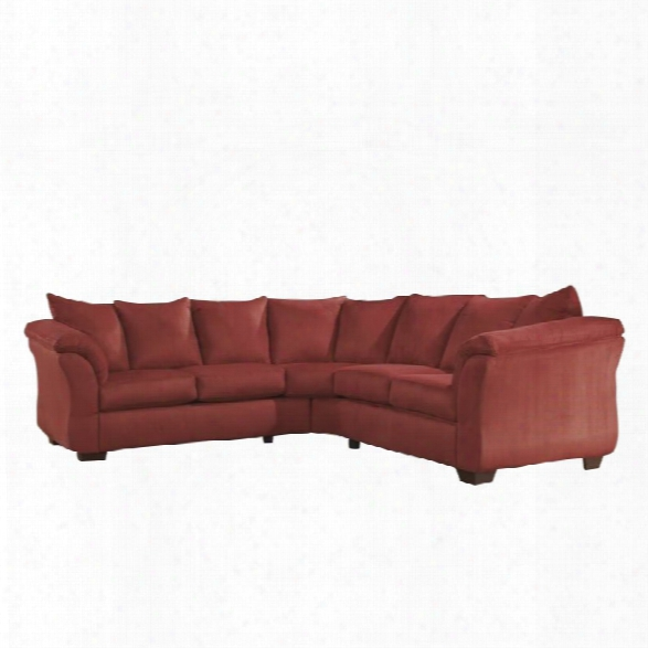 Ashley Darcy 2 Piece Fabric Corner Sectional In Salas
