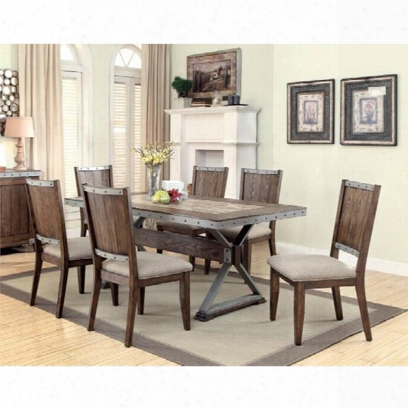 Coaster 5 Piece Dining Set In Brown