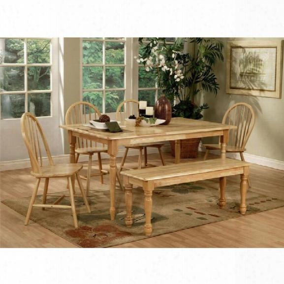Coaster Damen 6 Piece Dining Set In Natural Wood