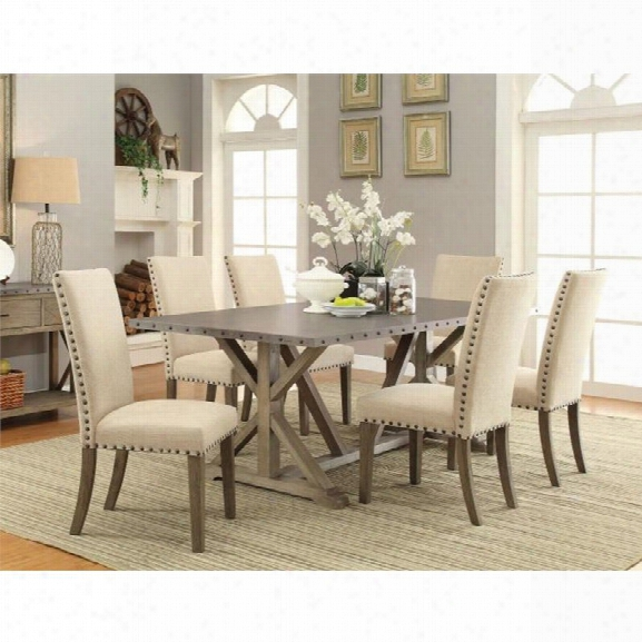 Coaster Webber 5 Piece Dining Set In Beige And Driftwood