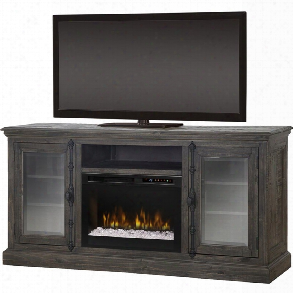 Dimpkex Ashton 68 Fireplace Tv Stand In Weathered Gray