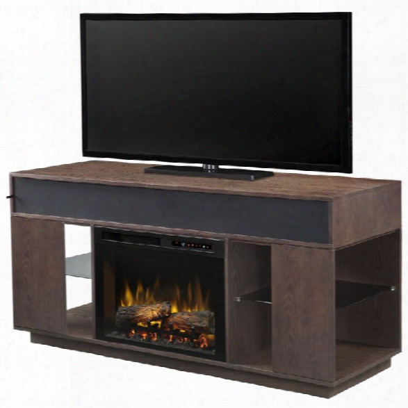 Dimplex Audio Flex Lex 64 Fireplace Tv Stand With Sound In Smoke