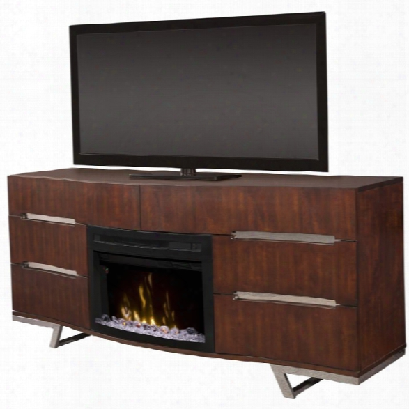 Dimplex Valentina 72 Fireplace Tv Stand In Burnished Cherry