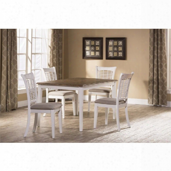 Hillsdale Bayberry 5 Piece Dining Set In White