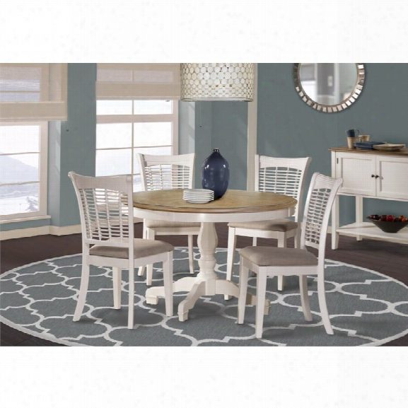 Hillsdale Bayberry 5 Piece Round Dining Set In White
