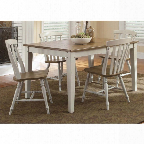 Liberty Furniture Al Fresco Iii 5 Piece Dining Set In Driftwood