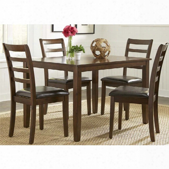 Liberty Furniture Bradshaw 5 Piece Dining Set In Russet