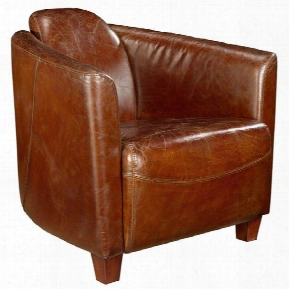 Moe's Salzburg Leather Club Chair In Brown