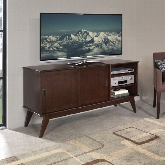 Simpli Home Draper 60 Medium Tv Stand In Auburn Brown