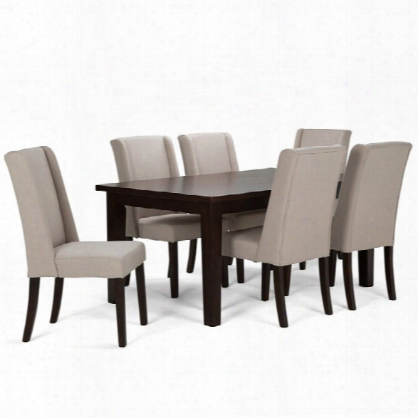 Simpli Home Sotherby 7 Piece Dining Set In Natural