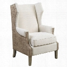 Coaster Upholstered Accent Chair in Cream and Beige