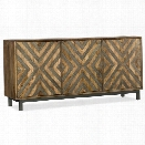 Hooker Furniture Serramonte 69 Accent TV Stand in Medium Wood