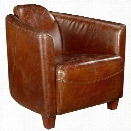 Moe's Salzburg Leather Club Chair in Brown